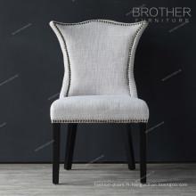 Nouveau modèle famille décoration luxe salon tissu salle à manger chaise