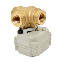 OEM 3 Way Elektrisches Wasserregelventil Mini Motorisiertes Ventil mit manuellem Betrieb
