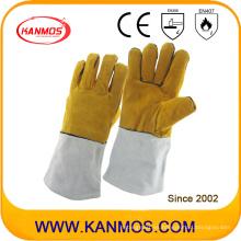 La piel de vaca de cuero industrial de trabajo de soldadura guantes de trabajo (11119)