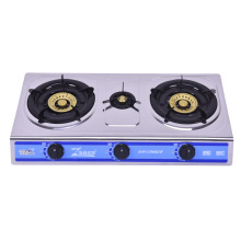 Stainless Steel Three Burners Gas Stove, Blue Fire