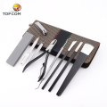 8 piece beauty lady nail stainless steel manicure set