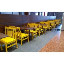 Mesa de jantar de madeira de 4 lugares e cadeira para restaurante (FOH-RTC02)