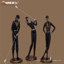 Wholesales sport souvenir art deco figures resin golf statues for home decoration