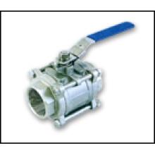 Válvula de esfera rosqueada 3-PC S / S