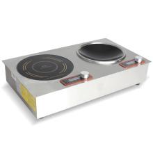 Cocina de inducción incorporada de 2 quemadores con temporizador