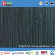 Hoja de acero inoxidable del final de la rayita del color con SGS ISO