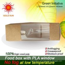Günstige Fast Food Box Verpackung mit Antibeschlagsfenster