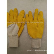 Трикотажные рабочие перчатки с латексным покрытием из латекса
