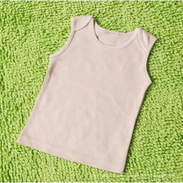100% natural chaleco de algodón orgánico bebé