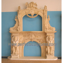 Carving Marble Fireplace for Carved Stone Mantel (QY-LS332)