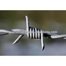 Barato doble torcedura de acero de calibre 14 galvanizado alambres de púas