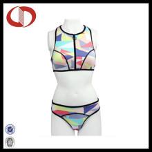 Heißer Entwurfs-Jugend-kundenspezifischer Logo-Frauen-Badebekleidungs-Bikini Wholasale