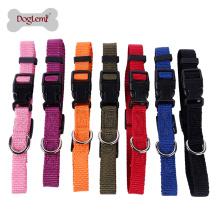 En gros 7 couleurs 4 tailles chien collier anti-puces en nylon sangle chien collier