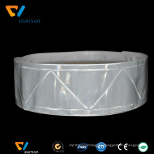 dongguan preço barato 3 m pvc fita reflexiva de aviso à prova d 'água