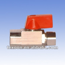 Mini brass angle ball valves with compression*solder connections