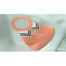 Free Silicone Baby Waterproof Bucket Bib Teether Detachable