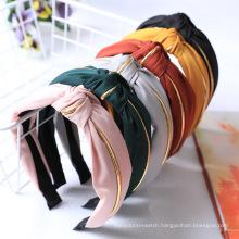 Wholesale Korea Trending Designer Gold Fashion Hair Accessories Head Bands Knit Knot Hairbands women Headband