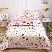 Luxury Hotel Patchwork Quilt Bedspread California King Comforter Set All-Season