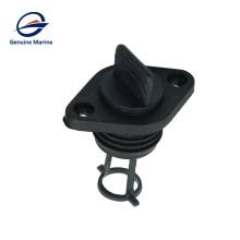 Kit de tapón de drenaje de plástico ABS negro para barco yate marino