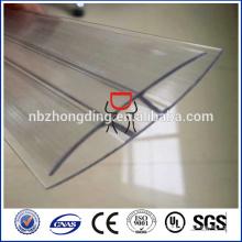 100% lexan Polycarbonat Blechverbinder h und u Profil