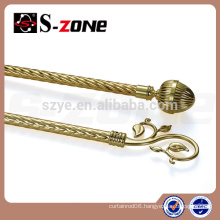 New design twisted iron curtain rod for home decor