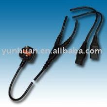 Tipo de separador Cables UK cable de alimentación separado cable Europa los cables de suministro de didvid americano