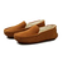 Теплые зимние мужские повседневные туфли мокасины для обуви