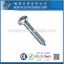 Feito em Taiwan Carbon Steel C1008 Zinc Plated Cross Recess Drive Pan Head Self Tapping Screw