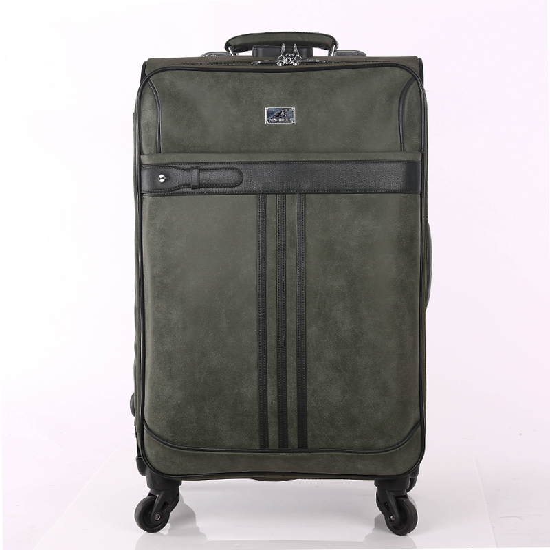 Hand-made pu luggage sets