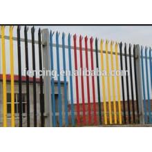iron black powder coated ornamental fence/used ornamental fence