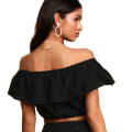 2020 Off Shoulder Chiffon Crop Top Frauen
