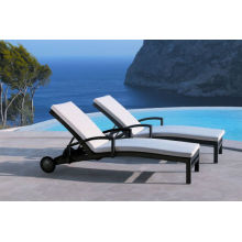 Hot sale Outdoor All Weather beach sun lounger with wheels