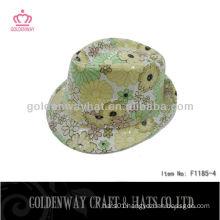 beautiful sequin flower summer sun hats short brim Girls Yellow Fedora Hats