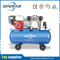 Best price 2 cylinder 100 litre piston industrial air compressors with gasoline engine