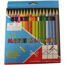 Lápiz plomado de varios colores, lápices de colores de madera natural para estudiantes