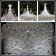 2017 EXPO Sexy Back Lace Beading Luxury Bling Mermaid Wedding Dress Long Train Tiamero THX7801
