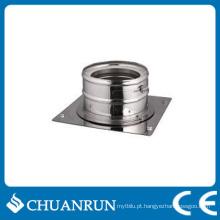 Adaptador de tubo de parede dupla de aço inoxidável para fogões a pellets