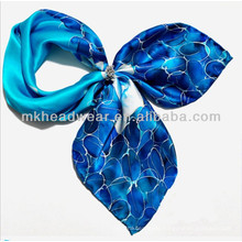 Wholesale Custom Ladies Chiffon Uniform Silk Scarf