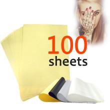 100 Hojas Tatuaje Carbono Stencil Térmica 8.5x11 Unidades Maestras Papel de Transferencia