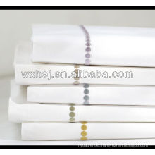 100% cotton white hotel high quality hand embroidery pillow case