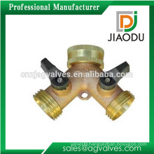 made in Taizhou good selling nice quality garden hose chrome plated brass shut off valve for water or oil
