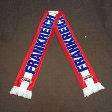 Рекламные подарки EUFA Трикотажный полиэстер Австрия Фан-шарф