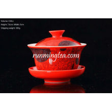 Porcelana vermelha chinesa Gaiwan 150cc