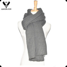 Men′s Solid Color Winter Warm Knitting Scarf