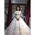 Sexy off shoulder Ivory simple ball gown vintage wedding dress bridal gown
