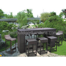 Outdoor Modern Rattan Bar Furniture Sets