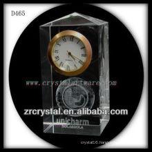 K9 3D Laser Subsurface Image Inside Crystal Clock