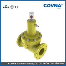 Válvula de cierre de emergencia de gas 24v válvula de solenoide de brida