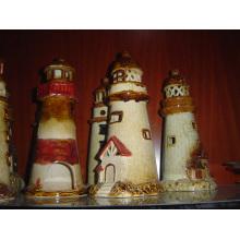 Decoración de jardín de la torre de cerámica