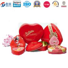 Heart Shape Promotion Tin Wedding Return Gifts